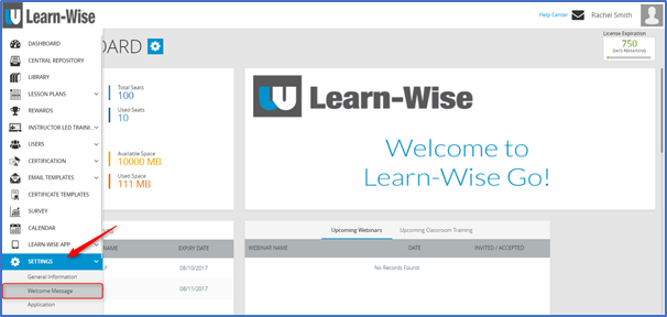 How Do I Customize My Welcome Message? – Learn-WiseGo Support